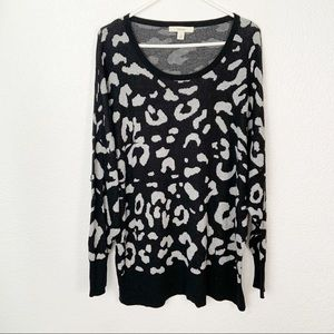 Sejour Leopard Print Sweater 2XL